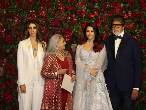 Stylish Bachchans At Deepika Ranveer S Wedding Reception