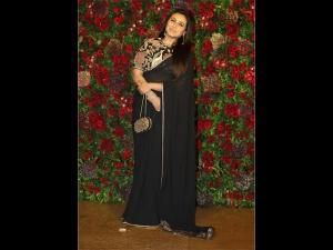 Rani Mukerji S Black Sari At Deepika Ranveer S Reception