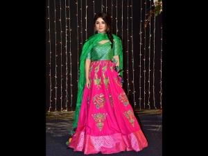 Zaira Wasim A Green Pink Lehenga At Priyanka Chopra S Reception