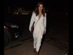 Shibani Dandekar Spotted A White Outfit At Farhan Akhtar S Party