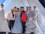 Tabu Karan Johar Dramatic Outfits At Lfw Sr
