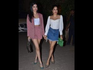 Janhvi Khushi Retro Outfits At Punit Malhotra S Party