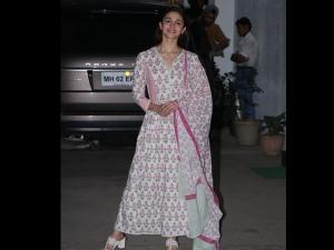 Alia Bhatt A Floral Anarkali The Special Screening Uri