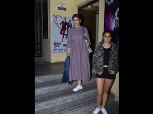 Raveena Tandon A Maxi Dress A Movie Outing Juhu