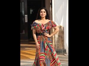Bhumi Pednekar S Multi Hued Dress Sonchiriya Promotions