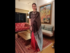 Aditi Rao Hydari Sports Sari The Event Mumbai