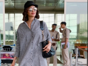 Karishma Tanna Clicked A Classy Outfit At The Airport