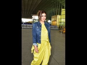Raveena Tandon's Quirky Airport Look Can Be Even Aced By Shy Girls