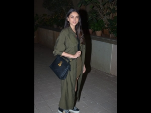 Aditi Rao Hydari A Green Dress At Punit Malhotra S Valentine Bash
