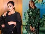 Sonam Kapoor Vidya Balan Sari Looks