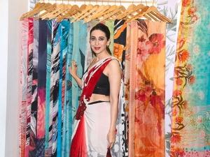 Karisma Kapoor A Mirchi Saree Satya Paul S Latest Collection Launch Event