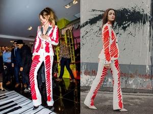 Gigi Hadid Alia Bhatt The Same Moschino Pantsuit