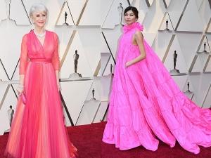 Actresses Pink Dresses At Oscars