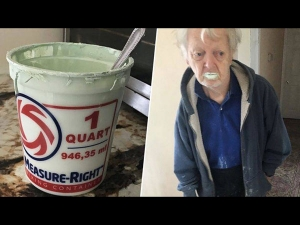 This Grandpa Ate Half A Tubof Paint Thinking It To Be Yogurt