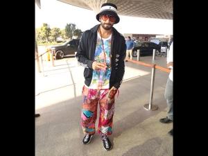 Ranveer Singh A Colourful Airport Look