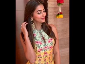 Pooja Hegde An Anita Dongre Dress Photoshoot