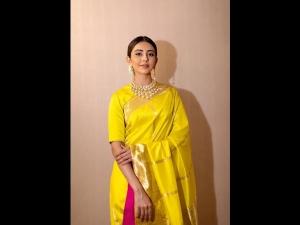 Rakulpreet Singh A Yellow Sari The Tsr Tv9 Awards
