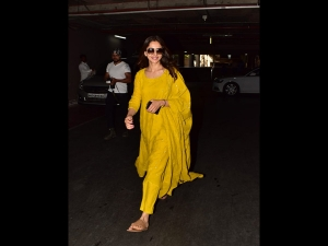 Rakulpreet Spotted A Yellow Suit At The Airport