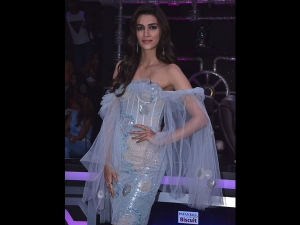 Kriti Sanon A Sheer Dress At Super Dancer 3 Luka Chuppi Promotions