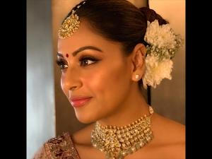 Bipasha Basu A Floral Lehenga At Her Sister S Wedding