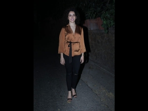 Sanya Malhotra Spotted The City A Classy Avatar