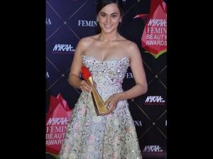 Taapsee Pannu A Floral Dress The Nykaa Femina Beauty Awards