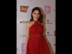 Tamannaah Bhatia A Red Dress At Ohaila Khan S Special Preview Event