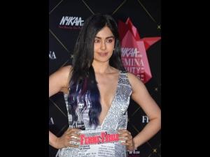 Adah Sharma A Newspaper Dress At The Nykaa Femina Beauty Awards