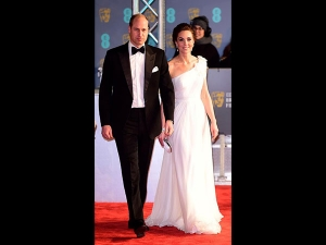 Kate Middleton An Ivory Gown At The Bafta