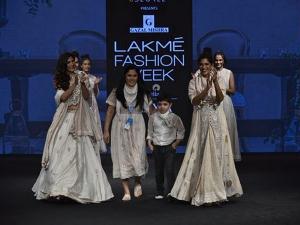 Aahana Kumra Kubbra Sait Showstopper Outfits At Lfw Sr