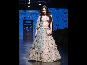 Mouni Roy S Nature Inspired Showstopper Attire At Lfw Sr