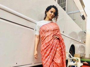 Kangana Ranaut Convinces Us To Make Sari An Everyday Wear With This Humble Sari