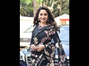 Madhuri Dixit Nene A Floral Sari The Teaser Launch Kalank