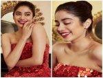 Recreate Janhvi Kapoor Look Diva Red Gown
