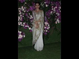 Karisma Kapoor A Good Earth Sari Akash Ambani S Wedding