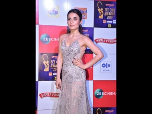 Radhika Madan An Icy Embellished Gown At Zee Cine Awards