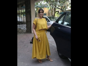 Ileana D Cruz Spotted A Mustard Dress With Her Husband