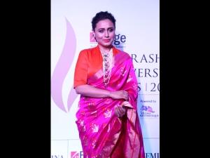 Rani Mukerji A Raw Mango Sari The Maharashtra Achievers Awards