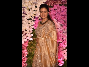 Kajol A Tarun Tahiliani Sari Akash Ambani Shloka Mehta S Reception