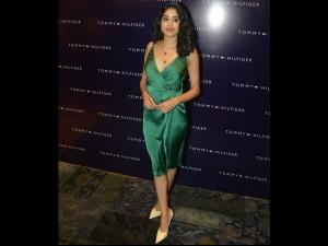 Janhvi Kapoor A Green Dress Tommy Hilfiger Event