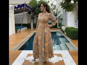 Sania Mirza A Yellow Maxi Dress An Event Jaipur