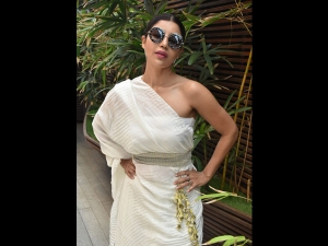 Debina Bonnerjee Spotted A White Outfit At Vikram Phadnis Event