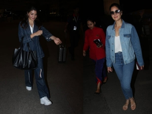 Katrina Kaif Jacqueline Fernandez Spotted At The Airport Denims
