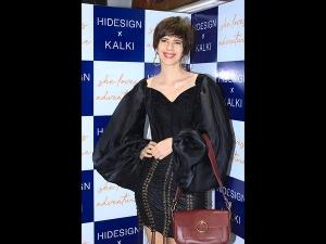 Kalki Koechlin A Black Swapnil Shinde Dress The Hidesign Event