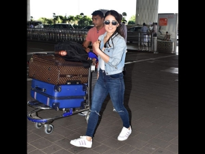 Radhika Madan Spotted At The Airport In A Denim Outfit