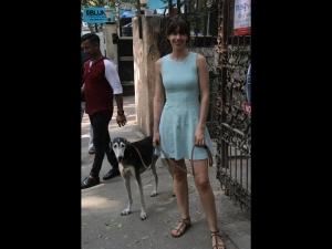 Kalki Koechlin Spotted In A Little Blue Dress
