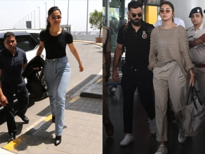 Deepika And Anushka Spotted In Fuss Free Airport Looks