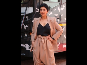Sonali Bendre In A Dhoti Pantsuit For The Vogue Bffs