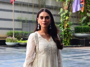Aditi Rao Hydari Spotted In A White Floral Suit