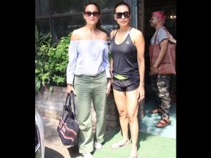 Amrita Arora Spotted In A Casual Avatar With Malaika Arora